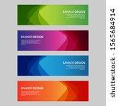 vector abstract design banner... | Shutterstock .eps vector #1565684914