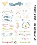 wedding graphic set  arrows ... | Shutterstock . vector #156568589