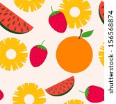 seamless pattern with summer... | Shutterstock .eps vector #156568874
