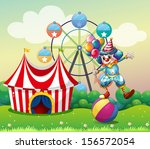 illustration of a clown... | Shutterstock . vector #156572054
