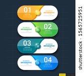 infographics template 4 options ...   Shutterstock .eps vector #1565725951