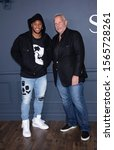 "Small photo of Brooklyn, NY, USA - November 19, 2019: Saquon Barkley and Steve Tisch attend Apple TV+ premiere of ""The Servant"" at BAM Howard Gilman Opera House, Brooklyn"