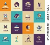 set of art and education icons | Shutterstock .eps vector #156574277