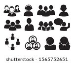 bundle of silhouette business... | Shutterstock .eps vector #1565752651