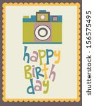 happy birthday card | Shutterstock .eps vector #156575495