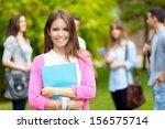 groups of happy college... | Shutterstock . vector #156575714