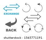 exchange logo. flip over or... | Shutterstock . vector #1565771191