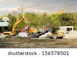 industrial machines working in... | Shutterstock . vector #156578501