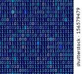 Blue Binary Computer Code...