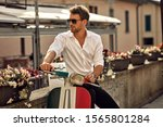 Stylish Italian Man Wearing...