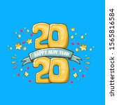 2020 happy new year poster or...   Shutterstock .eps vector #1565816584