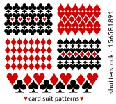card suit background patterns.... | Shutterstock .eps vector #156581891