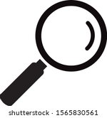 black magnifying glass icon...