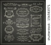 set of vintage design elements... | Shutterstock .eps vector #156583571