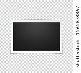 blank photo frame  isolated on... | Shutterstock .eps vector #1565878867