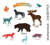 Animals. Outlines Of Animals...