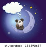illustration of a panda... | Shutterstock . vector #156590657