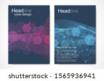 vector templates for brochure... | Shutterstock .eps vector #1565936941