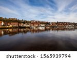 Whitby Harbor At Night With...
