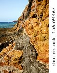 rock stone sky cloud beach ... | Shutterstock . vector #156594467