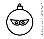 christmas ball icon isolated on ...