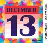 december 13 icon. for planning... | Shutterstock .eps vector #1565955001