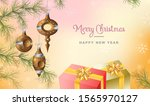 merry christmas greeting card...   Shutterstock .eps vector #1565970127