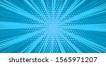 pop art blue comics book...   Shutterstock .eps vector #1565971207