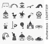 amusement park icons isolated... | Shutterstock .eps vector #156597359