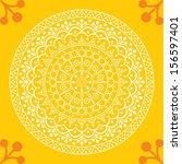rangoli. vector illustration... | Shutterstock .eps vector #156597401