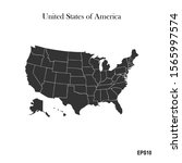 usa map with a white background.... | Shutterstock .eps vector #1565997574