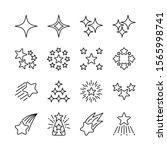 stars line icons set vector... | Shutterstock .eps vector #1565998741