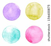 watercolor circles collection.... | Shutterstock .eps vector #156600875