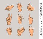 hands and fingers vector... | Shutterstock .eps vector #1566034534