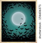 happy halloween poster. vector... | Shutterstock .eps vector #156606371
