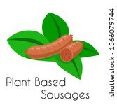 healthy plant based meat...   Shutterstock .eps vector #1566079744