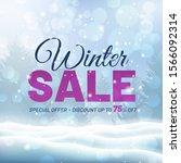 winter sale design with snow... | Shutterstock .eps vector #1566092314