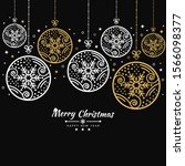 merry christmas background with ... | Shutterstock .eps vector #1566098377