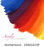 abstract acrylic hand painted... | Shutterstock . vector #156610139