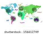 theme of the scissor cut for... | Shutterstock . vector #156612749