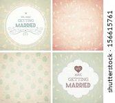 vector illustration. wedding... | Shutterstock .eps vector #156615761