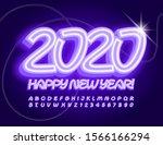 vector neon greeting card happy ... | Shutterstock .eps vector #1566166294