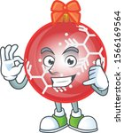 cartoon red christmas ball with ...   Shutterstock .eps vector #1566169564