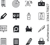 office vector icon set such as  ... | Shutterstock .eps vector #1566170827