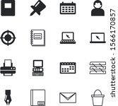 office vector icon set such as  ... | Shutterstock .eps vector #1566170857