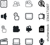 media vector icon set such as ...