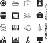 office vector icon set such as  ... | Shutterstock .eps vector #1566172747