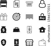 shopping vector icon set such... | Shutterstock .eps vector #1566173311
