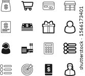 shopping vector icon set such... | Shutterstock .eps vector #1566173401