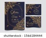 wedding invitation card... | Shutterstock .eps vector #1566184444